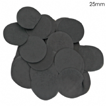 Black Tissue Paper Confetti | 25mm Round | 100g Bag